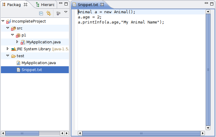 how to run java snippet